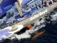 Team Delta Lloyd in actie tijdens de Volvo Ocean Race