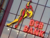 DSB kantoor met het logo; DSB Bank en de schaatser