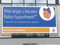 Eén van de vele Rabobank hypotheek reclame uitingen