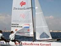 Booth Dercksen zeilt met de door Zwitserleven gesponsorde boot